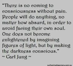 Consciousness requires making the darkness visible.