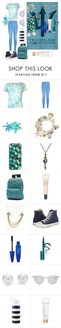 """""""Filha de Poseidon"""" by biajacksonwinchester ❤ liked on Polyvore featuring Yves Saint Laurent, New Look, Casetify, Russell Lownsbrough, Vans, Estée Lauder, Converse, Maybelline, Stila and Mikimoto"""