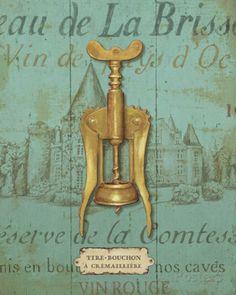 Saca-rolha antigo III Posters por Daphne Brissonnet na AllPosters.com.br