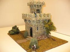 A Wizard's Tower I crafted with Hirst blocks and custom painted