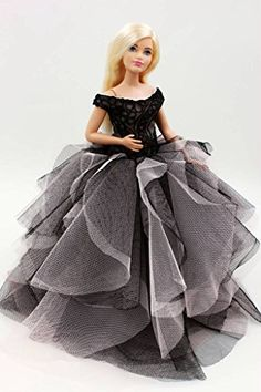 Barbie Collector Doll: Cora Gu Classic Strapless Lace DressGowns For Curvy Barbie Doll Girls PresentCurvy Barbie Dress * Learn more by visiting the image link.