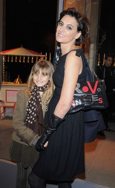 ines de la fressange daughter | Ines de la Fressange Ines De La Fressange (R) and her daughter ...