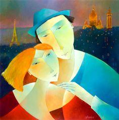 UN SOIR À PARIS  \\ Peintre français Francoise Collandre