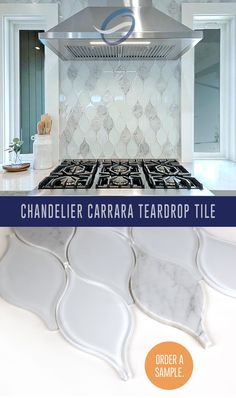 Condo Kitchen, Kitchen Redo, Home Decor Kitchen, Kitchen Remodel, Kitchen Ideas, Backsplash Marble, Backsplash Design, Kitchen Backsplash, White Glass Tile