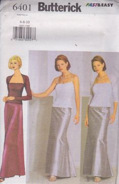 Butterick 6401 Misses' Shrug Top and Skirt by handsoncreativitytoo