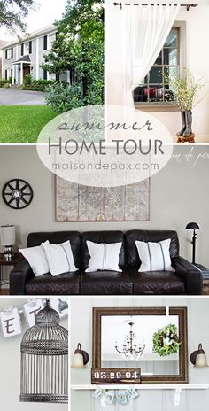 Beautiful, simple, traditional summer home tour full of diy decorating ideas | maisondepax.com