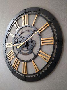 Cool Clocks, Unique Wall Clocks, Bicycle Clock, Clocks Going Forward, Living Room Clocks, Laser Cut Steel, Wall Watch, Islamic Wall Art, Wooden Clock
