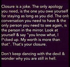 "Foto: ""Don't keep dancing with the devil and wonder why you are still in hell."""