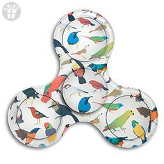 VfIvefi Fidget Tri-Spinner Toys Hand Spinner Colorful Birds Stress Reducer For Helps Focus Stress Anxiety Adult Children - Fidget spinner (*Amazon Partner-Link)