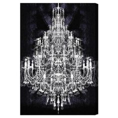 Canvas print with a chandelier motif. Made in the USA.  Product: Canvas printConstruction Material: Gallery-wrapped c...