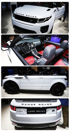 2017 Land Rover Range Rover Evoque Convertible: What's more niche than a… Range Rover Evoque, Range Rover Sport, Range Rovers, My Dream Car, Dream Cars, Land Rover Car, Car Goals, Land Rover Discovery, Luxury Suv