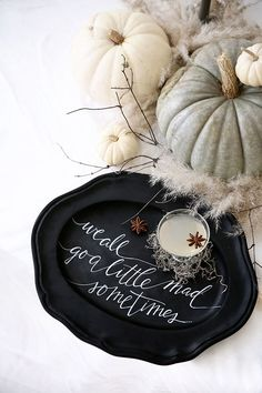halloween tabletop + cocktail ideas