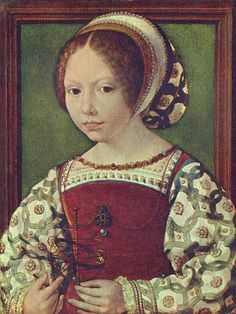 Portrait of a Young Princess, possibly Dorothea of Denmark. By Jan Mabuse (Gossaert) (1478–1532), circa 1530.