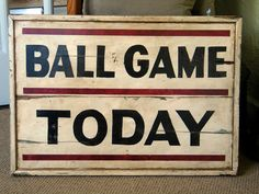 Old Vintage Baseball Stadium Ball Park Sign Trade Wood Signs Scoreboard