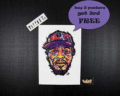 GUILTY SIMPSON Rap poster. Perfect gift for hip hop lovers. hip hop art collections, Unique gift for rap fans, rap art, hip hop art,