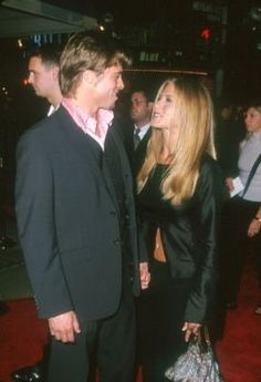 Brad Pitt and Jennifer Aniston at event of Fight Club  He was a jerk to her.