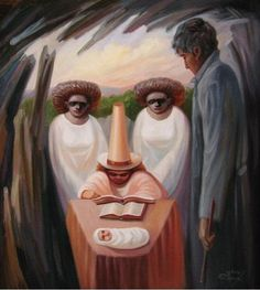Stare at Oleg Shuplyak's painting, you may find one more illusion element that is hiding inside! Shared Stunning Illusion Paintings by Oleg Shuplyak here. Optical Illusions Faces, Funny Illusions, Optical Illusion Paintings, Art Optical, Optical Illusion Images, One Photo, Illusion Kunst, Image Halloween, Illusion Pictures