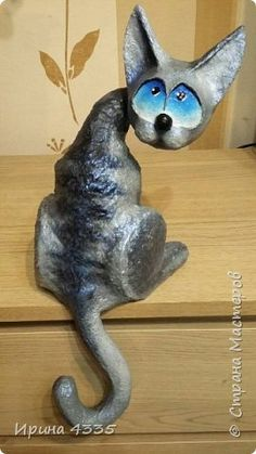 50 Ideas Cats Orange Black - Hobbies paining body for kids and adult Paper Mache Projects, Paper Mache Clay, Paper Mache Sculpture, Paper Mache Crafts, Ceramic Sculptures, Origami, Zoo Crafts, Paper Mache Animals, Pottery Workshop