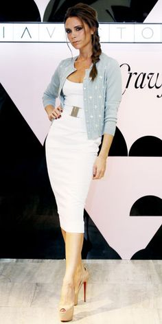 Belted LWD.  A knit Miu Miu cardigan and sky-high Louboutins.  LOVE this!!!