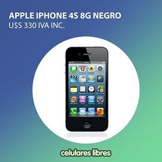 Si aún no conocés iPhone, esta es la oportunidad de acercarte al gran mundo de Apple. iPhone 4S posee sistema operativo iOS, almacenamiento interno de 8 GB pantalla de 3.5 pulgadas y mucho más, conocé todas su características.