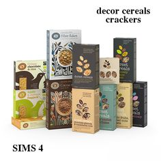 • Deco Crackers - comes with 2 versions - both have 3 swatches • Corn Flakes - 2 swatches • Cereals - 6 swatches Very realistic and high resolution textures. DOWNLOAD