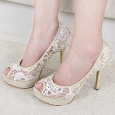 Buy 'Mancienne – Peep-Toe Lace Pumps' at YesStyle.com plus more China items and get Free International Shipping on qualifying orders.