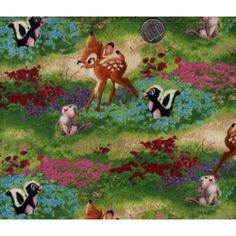Half Yard Cotton Fabric Disney Bambi Thomas Kinkade ($25) ❤ liked on Polyvore featuring home, home improvement and fabric