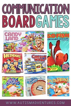 Need some communication games for kids? These board games are perfect activities for students to practice communicating in the classroom! Whether you're practicing social skills, team building, or building vocabulary, check out these ideas for fun games to play with children with autism or other special needs. Communication Skills Activities, Social Skills Autism, Social Skills Activities, Speech Therapy Activities, Language Activities, Pecs Communication, Articulation Therapy, Learning Games, Autism Classroom