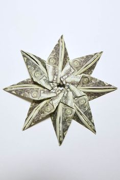 Star flower money origami pinterest star flower origami and leis mightylinksfo
