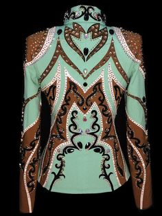 Seafoam & Caramel Showmanship Outfit by Tandy Jo