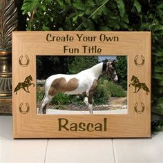 Personalized Pet Horse Lover Gift | Custom Tennessee Walker Horse Picture Frame | EtchedInMyHeart.com