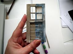 Miniature windows shutter  By Gül İPEK #miniature #windows #handmade #mini #istanbul #diorama #scale #paper #gulipek #pencere #vintage #windows #shutters #
