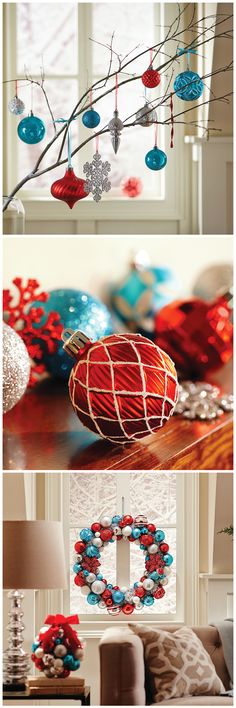 Shiny reds and frosty blues create the classic look. The fun shapes create the whimsy. The North Pole Collection from Martha Stewart Living is just one way to add Christmas cheer to your home. Check out the ornaments, wreaths and decorations from The Home Depot to build cheer this holiday season.