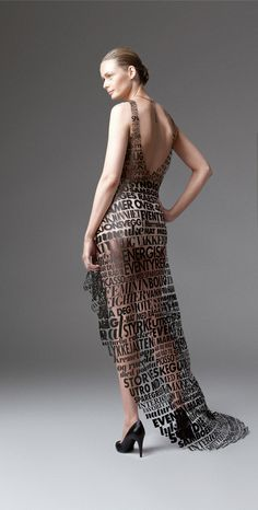 Typographic Dresses Keeping with the typographic... | Type Worship: Inspirational Typography & Lettering