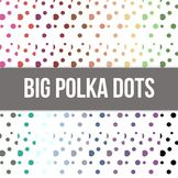 Big Polka Dots Invert Digital Background Paper - Commercial Use Allowed