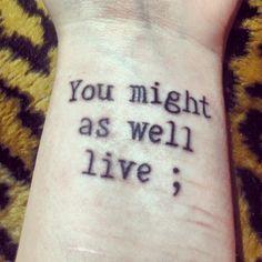 project semicolon tattoo scars - Google zoeken