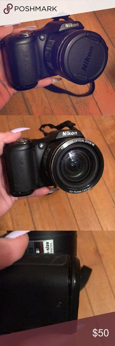 Camera 2010 Nikon coolpix. The battery port needs fixing which is such a cheap fix! Other than that it works perfect and runs off of AA batteries. nikon Other