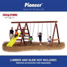 just a swing set. Swing - N - Slide Pioneer Custom Ready - To - Build Swing Set Kit