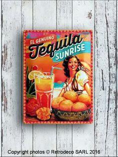 Plaque décorative bombée Tequila Sunrise, déco bistrot Tequila Sunrise, Nostalgic Art, Decoration, Decorative Plates, Bombshells, Home Decoration, Decor, Decorations, Decorating