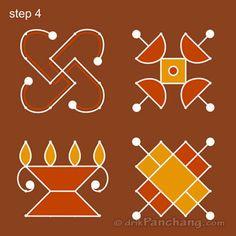 This page provides Dot Rangoli Designs and Patterns for Hindu festivals. In Tamil Nadu Rangoli is known as Kolam, Mandana in Rajasthan, Chowk Purna in Northern India, Alpana in West Bengal, Aripana in Bihar and Muggu in Andhra Pradesh. Rangoli Designs Latest, Simple Rangoli Designs Images, Rangoli Designs Flower, Rangoli Border Designs, Rangoli Designs Diwali, Rangoli Designs With Dots, Flower Rangoli, Rangoli With Dots, Beautiful Rangoli Designs