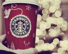 Starbucks in the cold winter