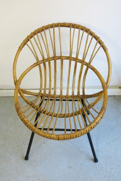 fauteuil enfant vintage en rotin ref1595 baos concept store vintage et contemporain