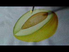 Pintura em tecido - Melão.