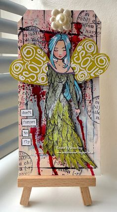 [I like the leaf gown; ditch the red runs that look like blood. ]I Heart Wings by Donna Gray | That's Blogging Crafty!