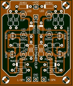 Electronics Projects, Electronic Circuit Projects, Diy Electronics, Electronics Accessories, Circuit City, Diode Led, Circuit Board Design, Diy Amplifier, Speaker Box Design