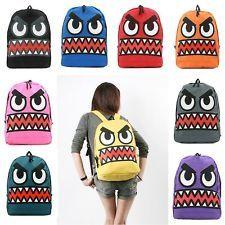 Mens Womens Backpack Vivid Funny Face Cool School Book Bag Rucksack Satchel Bags