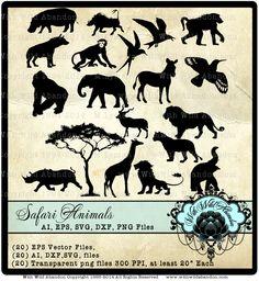 Safari Silhouette Clipart Templates, Safari Animal Patterns, Digital Stamps, Jungle Vectors, ai,svg,eps,png,dxf - https://www.etsy.com/listing/223112600/safari-silhouette-clipart-templates?utm_source=socialpilotco&utm_medium=api&utm_campaign=api  #supplies #scrapbooking  #wallvinyl,#Silhouette, #CutFile, #ai,#eps, #png, #dxf, #svg,#cameosilhouettedesign, #cricutdesign,cricut, #cameosilhouette, #tshirtdesign,