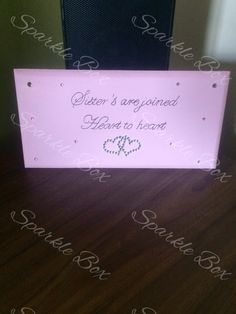 Sister's are joined heart to heart https://m.facebook.com/sparkleboxcambridge?_rdr