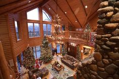 Tour this giant Michigan log home with 220 Christmas trees, ornaments Live Christmas Trees, Clark Griswold, Simple Tree, Hallmark Keepsake Ornaments, Log Homes, Michigan, Christmas Decorations, Tours, Traveling