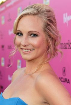 Candice Accola's hair - she wears it pulled back in cute styles